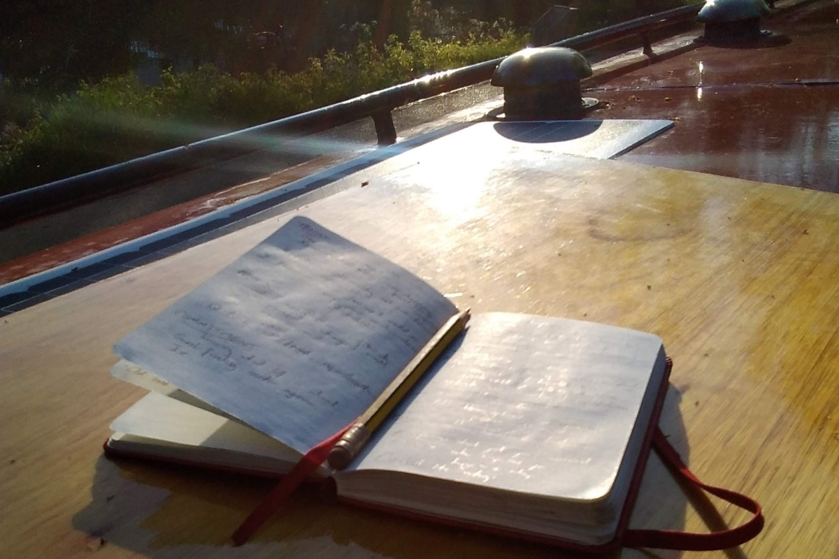 Notebook on boat